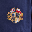 Crest Embroidered L/S Classic Rugby Polo Shirt