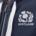 Scotland 2019/20 Kids Full Zip Hooded Rugby Sweat