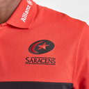 Saracens 2019/20 Players Pique Rugby Polo Shirt