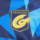 Dragons 2019/20 Kids Warm Up Poly Rugby Training T-Shirt