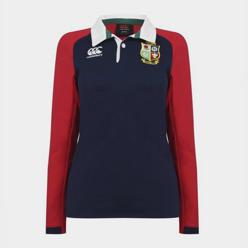 British and Irish Lions Long Sleeve Rugby Shirt Ladies