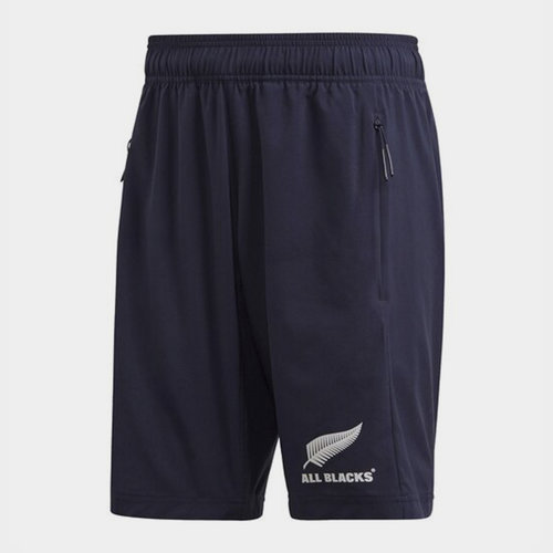 New Zealand All Blacks Mens Woven Shorts Primeblue