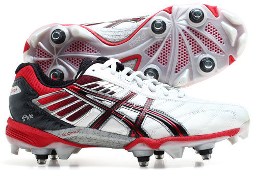 Gel Lethal Hybrid 4 SG Rugby Boots White/Red/Black