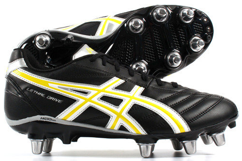 Lethal Drive SG Rugby Boots Black /White/Yellow