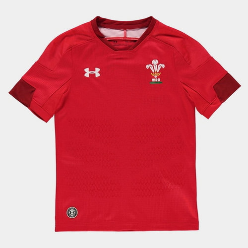 Wales Home Rugby Shirt 2017 2018 Junior