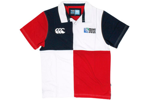 RWC 2015 CCC Harlequin S/S Rugby Polo Shirt White