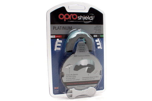 OproShield Platinum Mouth Guard Black/Pearl/Mint