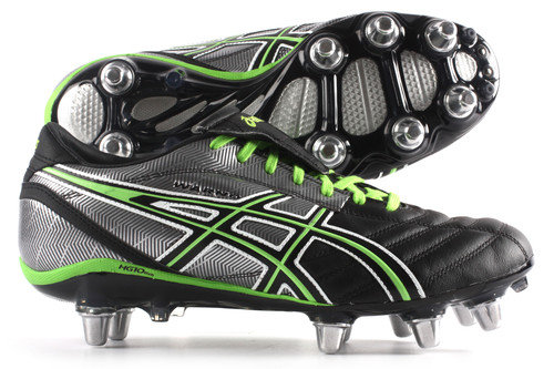 Lethal Warno ST2 SG Rugby Boot Black/Grass/Silver
