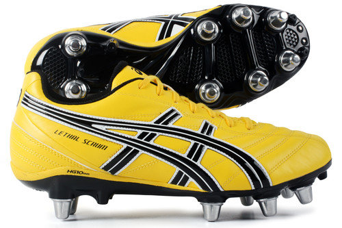 Lethal Scrum SG Rugby Boots Flash Yellow/Black/Silver