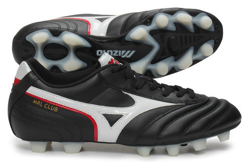 Morelia MRL Club FG Football Boots Black/White/Red