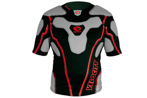 Velocity Top Rugby Body Armour Black/Red