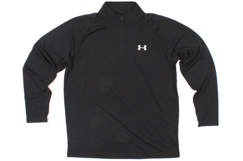 Heat Gear Tech 1/4 Zip L/S T-Shirt Black/White