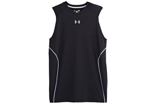Heat Gear Sonic Fitted Sleeveless Training T-Shirt Black/Steel