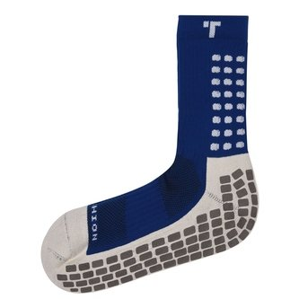 Mid Calf Cushion Crew Socks Royal / White