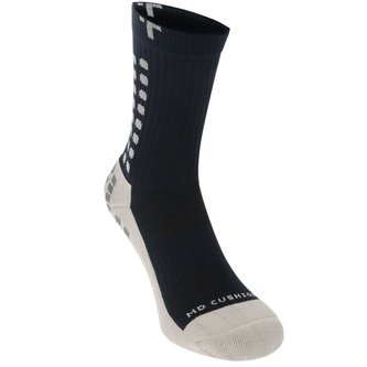 Mid Calf Cushion Crew Socks Navy / White