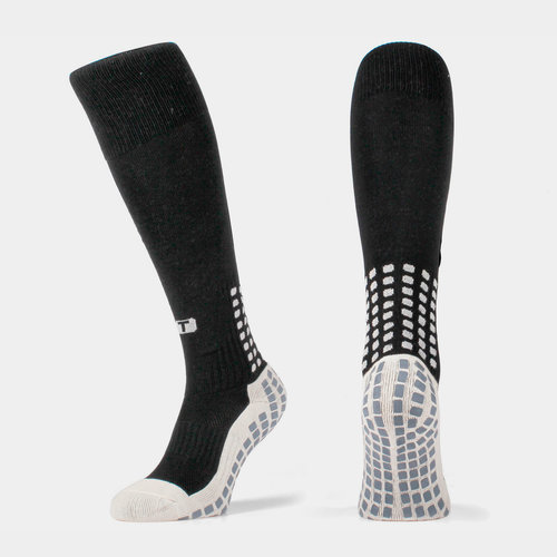 Full Length Over Calf Football Socks Black/White