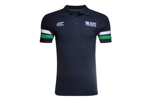 RWC 2015 CCC Half Back Rugby Polo Shirt Navy