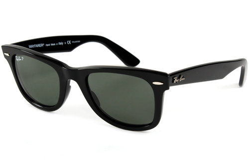 Ray-Ban 2140 Wayfarer Glossy Black Polarized Sunglasses