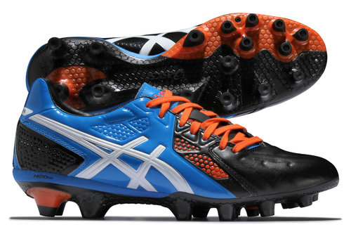 Lethal Stats 3 SK FG Rugby Boots Black/White /Royal Blue