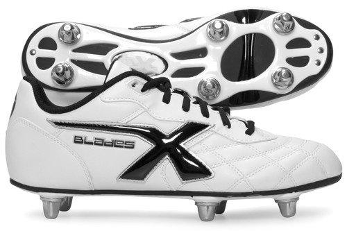 Legend 6 Stud Kids SG Rugby Boots White
