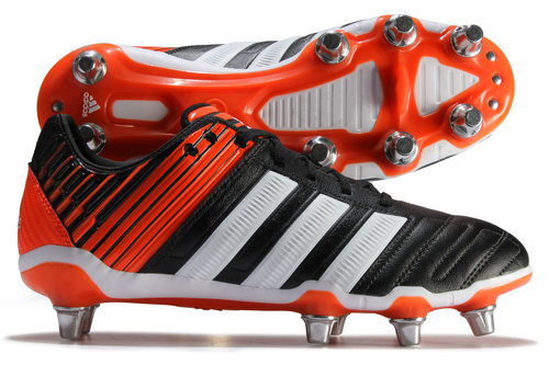 Adipower Kakari Wide Fit SG Rugby Boots Black/Running White/Solar Red