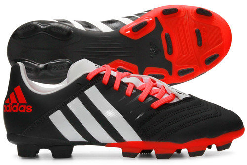 Predator Incurza TRX FG Kids Rugby Boots Black/White/Solar Red