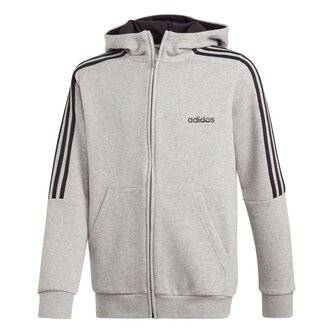 Boys 3 Stripes Full Zip Track Top Hoodie