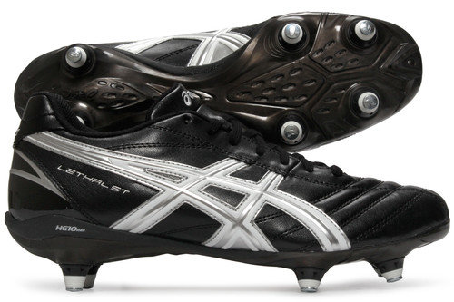 Lethal ST SG Rugby Boots Black/White/Silver