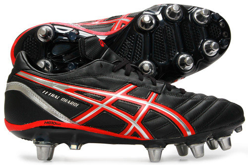 Lethal Charge SG Rugby Boots Black/Red/Silver