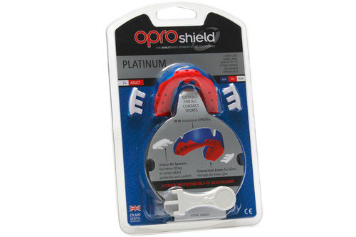 OproShield Platinum Mouthguard Blue/Red/Pearl
