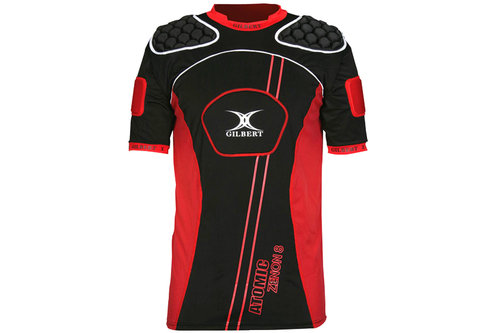 Gilbert Atomic Zenon V2 Rugby Body Armour Black/Red