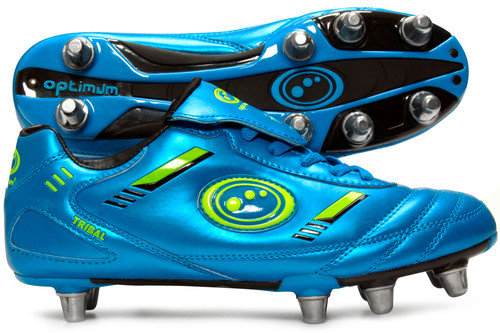 Tribal SG Rugby Boots Blue/Neon Green