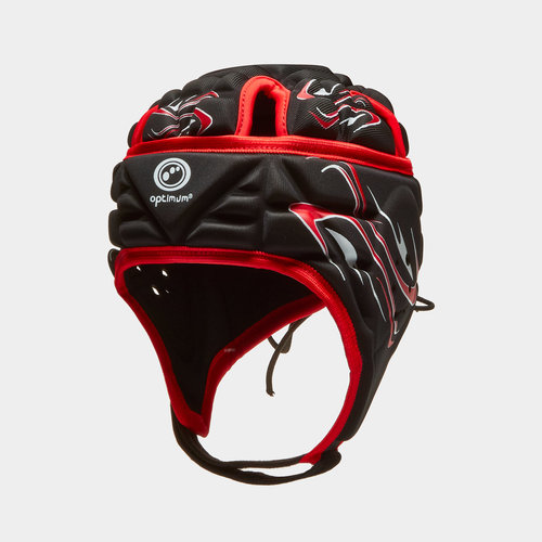 Inferno Kids Rugby Head Guard Black/Red
