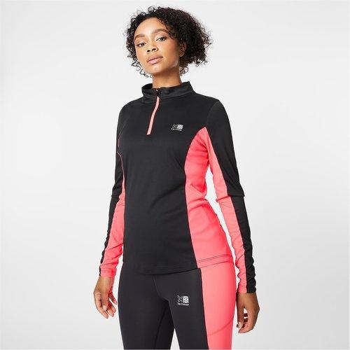 1/4 Zip Ladies Running Long Sleeve Top