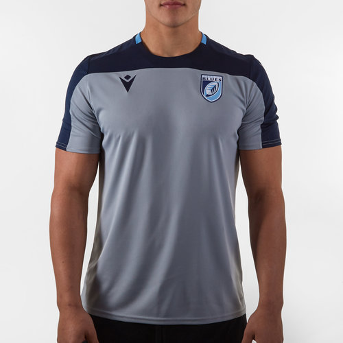 Cardiff Blues 2019/20 Players Poly Rugby Training T-Shirt