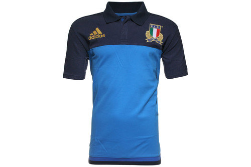 Italy 2016/17 Players Media Rugby Polo Shirt