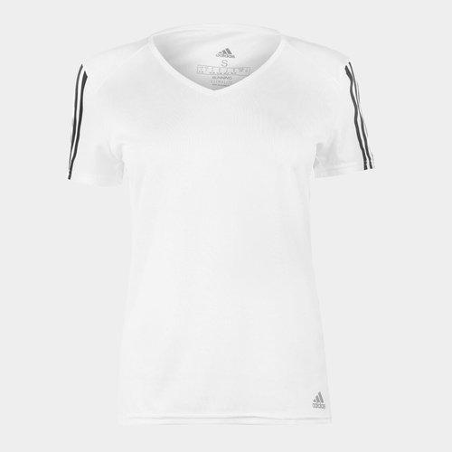 Run 3 Stripe T Shirt Ladies