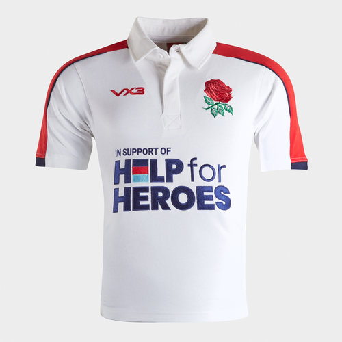 Help for Heroes England 2019/20 Kids Rugby Shirt