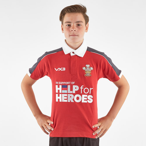 Help for Heroes Wales 2019/20 Kids Rugby Shirt