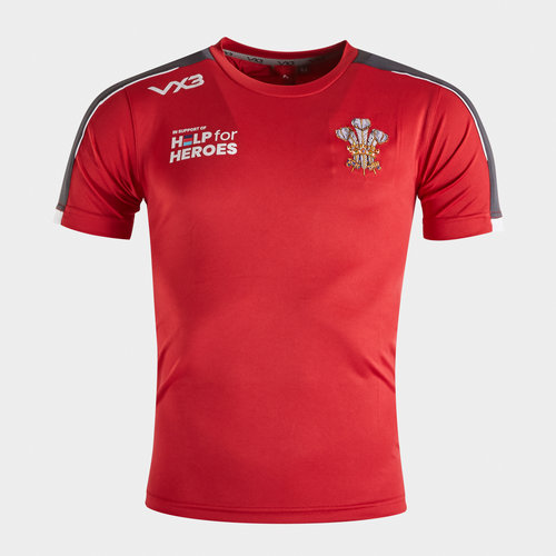 Help for Heroes Wales 2019/20 Kids Rugby T-Shirt