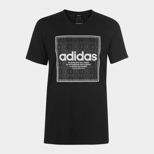 Box Linear Texture T Shirt Mens