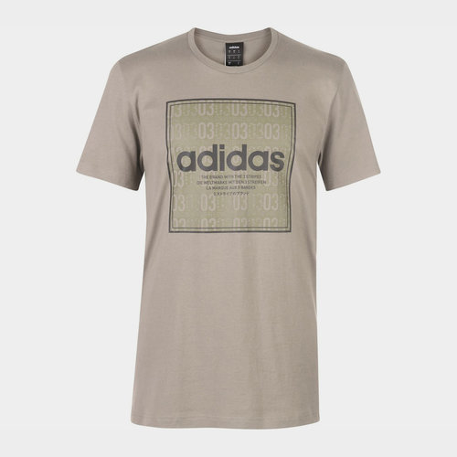Box Linear Texture T Shirt Mens