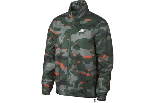 Camo Windbreaker Jacket Mens