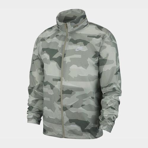 Camo Windbreaker Jacket Mens