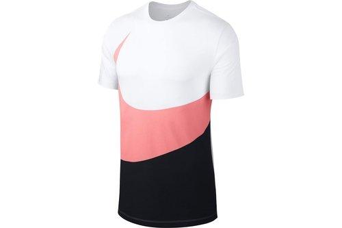 Swoosh Hybrid T Shirt Mens