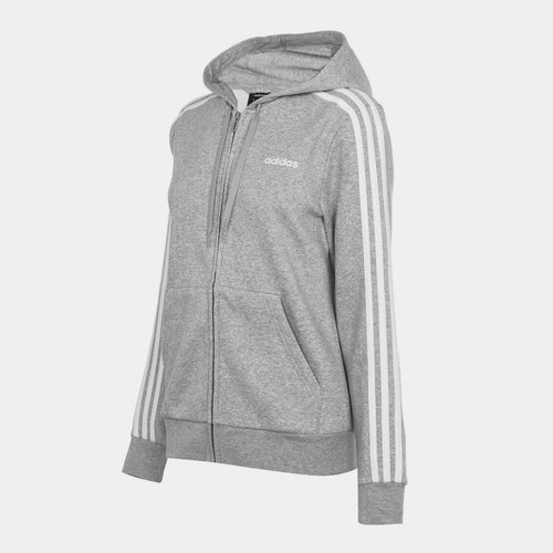 Essential 3 Stripe Zip Hoody Ladies