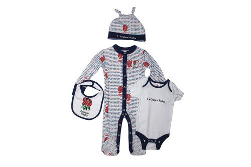England RFU 2015/16 Infant 4 Piece Scribble Gift Set