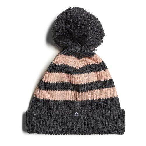 Fleece Three Stripe Bobble Hat Ladies