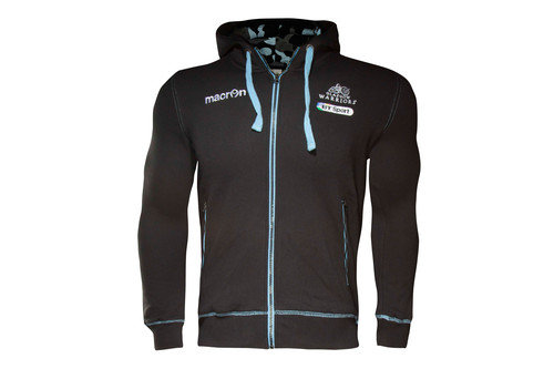 Glasgow Warriors 2016/17 Kids Cotton Full Zip Hooded Rugby Sweat