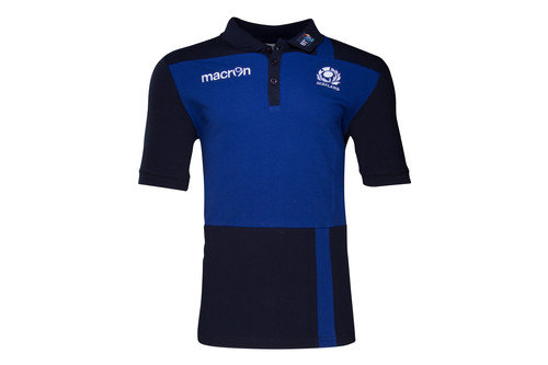 Scotland 2016/17 Cotton Travel Rugby Polo Shirt